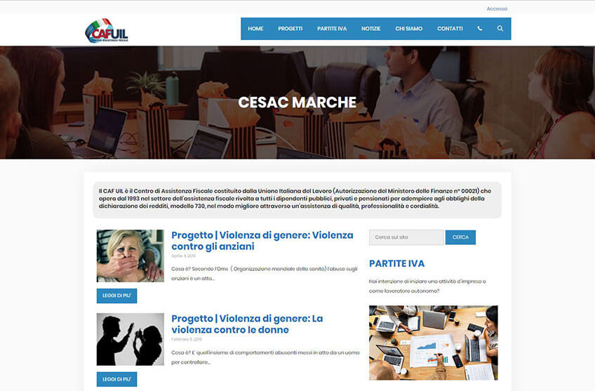 Progetto sito Cesac CAF UIL Ancona