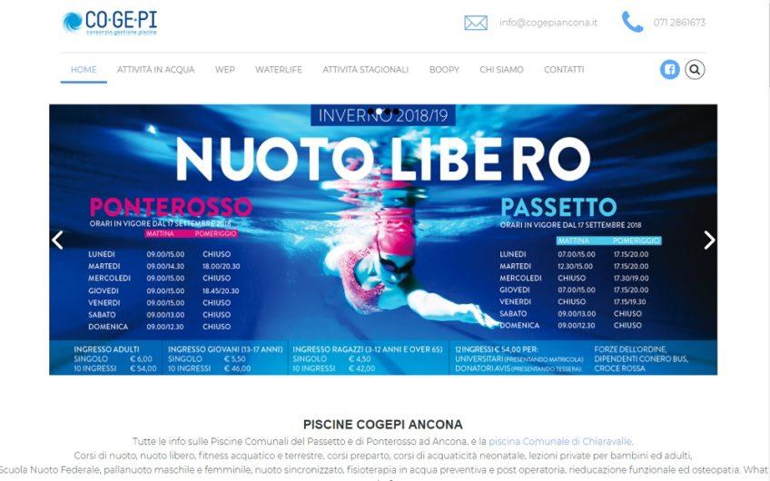 Progetto sito Consorzio Piscine Cogepi Ancona