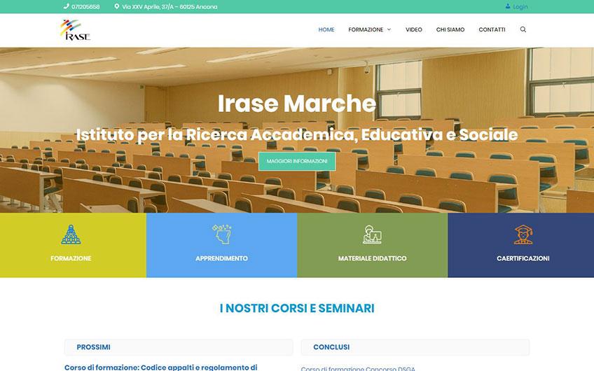 Progetto sito Irase Marche Ancona