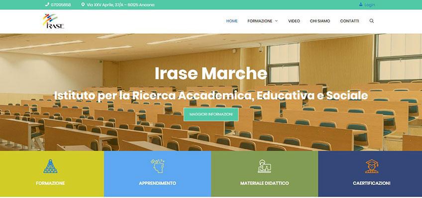 Progetto sito Irase Marche Ancona Portfolio
