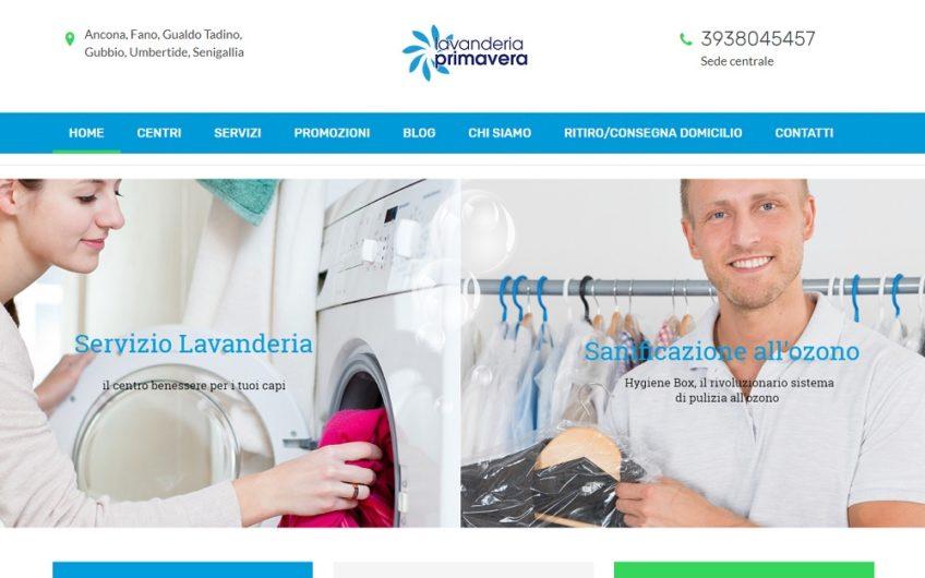 Progetto sito Lavanderia Primavera Portfolio