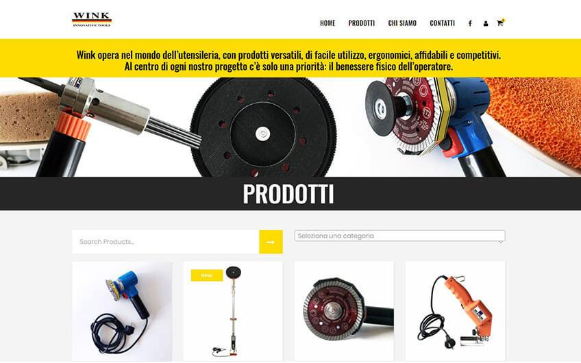 Progetto sito Wink Tool