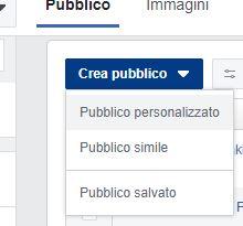 creare pubblico personalizzato Facebook
