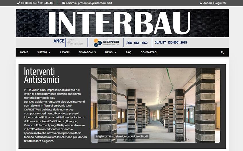 Progetto sito Interbau Srl Portfolio