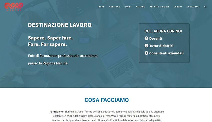 Progetto sito web Enfap Marche